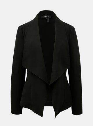 Sacou negru cu buzunare DKNY Drape