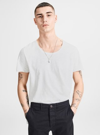 Tricou crem Jack & Jones Bas