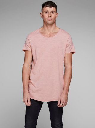 Tricou roz Jack & Jones Bas