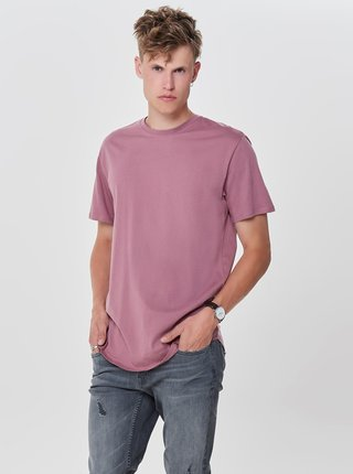 Tricou roz prafuit basic lung ONLY & SONS Matt