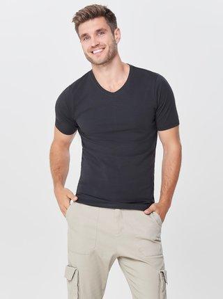Černé basic tričko s krátkým rukávem ONLY & SONS Basic