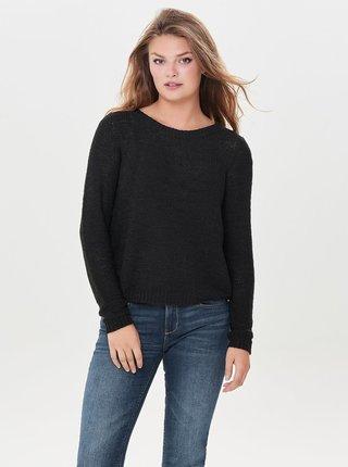 Čierny pletený sveter ONLY Geena