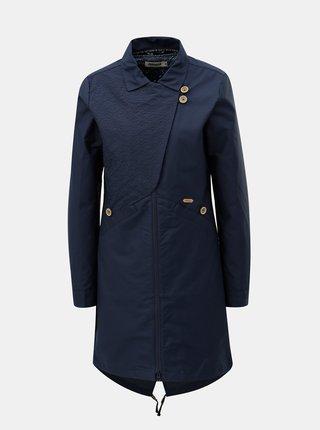 Tmavě modrý dámský kabát s odnímatelnou lehkou bundou 2v1 Maloja Sottoponte