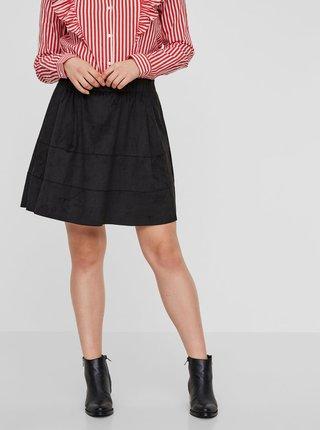Černá sukně v semišové úpravě  Noisy May Lauren