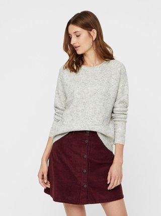Sivý sveter s prímesou vlny Noisy May Vitta