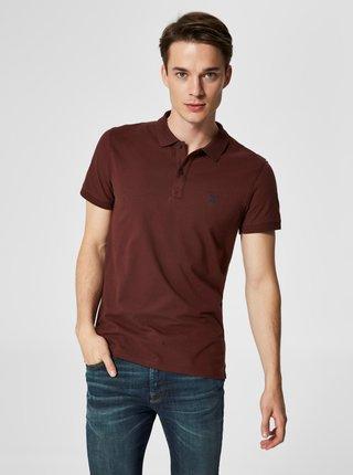 Vínové polo tričko Selected Homme Haro