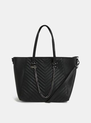 Geanta pentru shopping neagra cu lant Bessie London