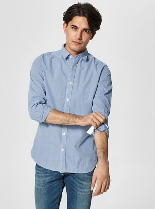 Camasa slim fit albastra in carouri Selected Homme