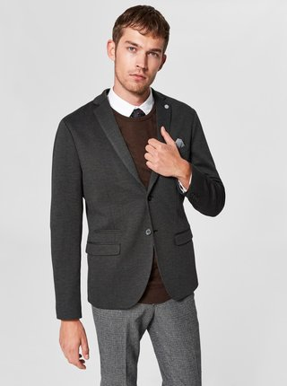 Sacou gri inchis Selected Homme