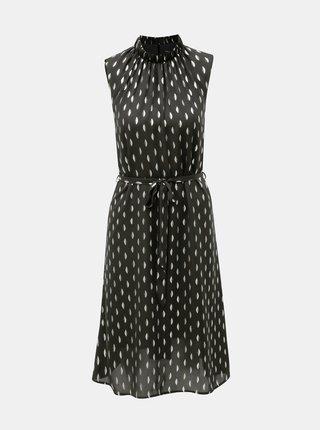 Černé vzorované  šaty se stojáčkem Dorothy Perkins