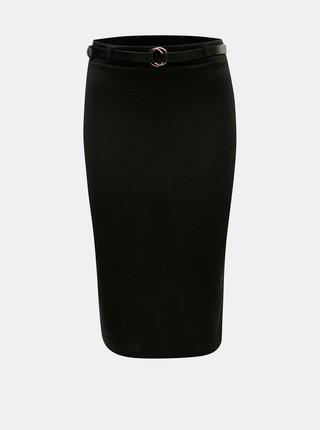 Černá pouzdrová sukně s páskem Dorothy Perkins