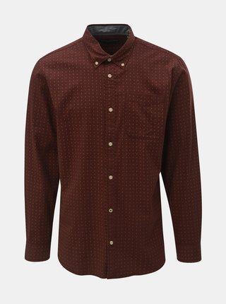 Hnědá vzorovaná košile Jack & Jones Brody