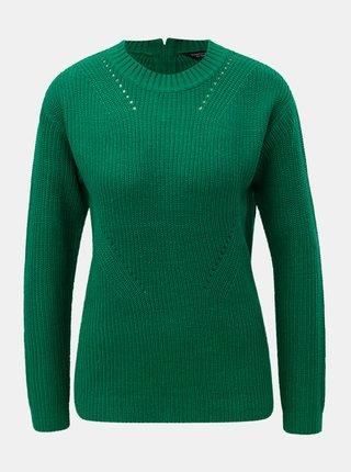 Pulover verde cu fermoar la spate Dorothy Perkins