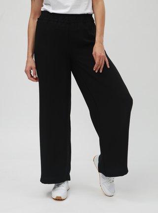 Černé volné kalhoty s vysokým pasem VERO MODA Nim Wide