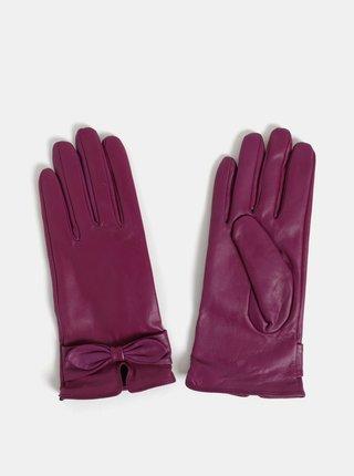 Set cadou de manusi roz inchis din piele Something Special
