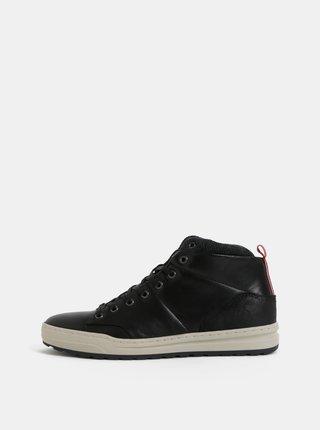 Pantofi sport inalti barbatesti negri din piele Bullboxer