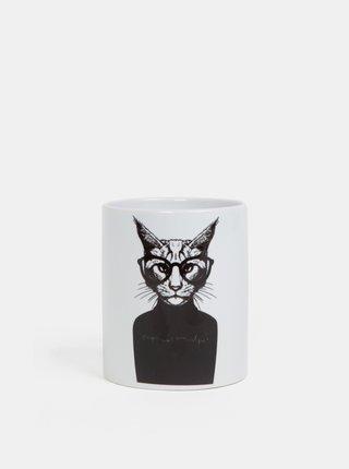 Cana alba Butter Kings cu model pisica