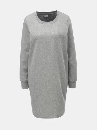 Světle šedé mikinové šaty s metalickým vláknem ONLY Luna