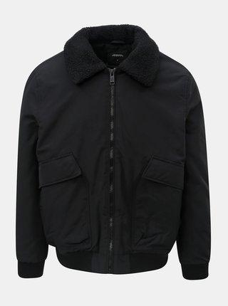 Jacheta neagra de iarna cu guler calduros Burton Menswear London Franklin