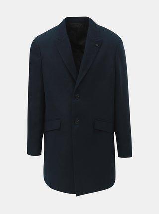 Tmavomodrý kabát Burton Menswear London Crombie