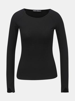 Tricou negru cu striatii TALLY WEiJL