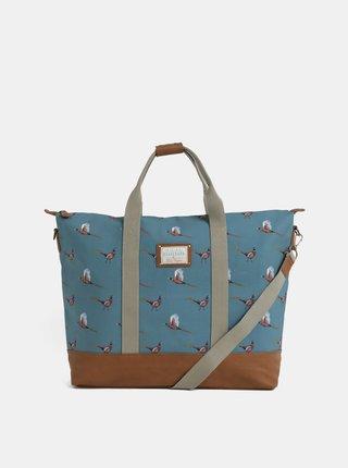 Světle modrá vzorovaná taška Brakeburn