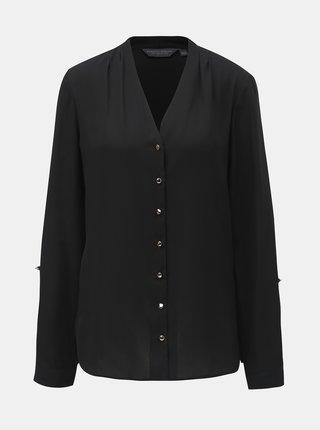 Bluza neagra cu decolteu in V Dorothy Perkins Tall
