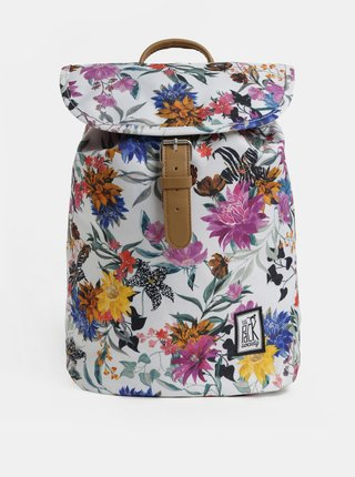 Rucsac alb floral de dama The Pack Society 10 l