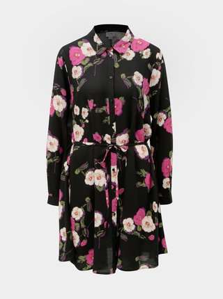 Rochie tunica neagra florala Jacqueline de Yong Gitte