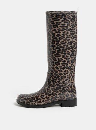 Hnědé holínky s leopardím vzorem OJJU