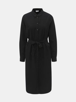 Čierne šaty s opaskom Noisy May Julie