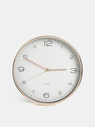 Nástěnné hodiny ve zlaté barvě Kaemingk