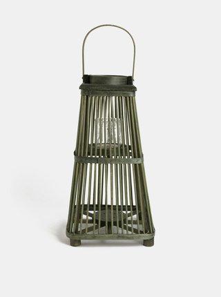 Zelený ratanový lampáš Kaemingk