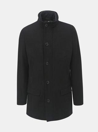 Pardesiu negru cu amestec de lana cu insertie detasabila in fata Selected Homme Hannover