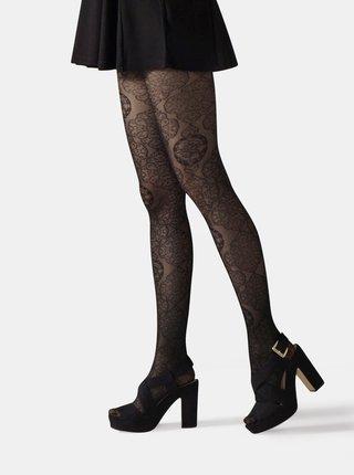 Černé krajkové punčochové kalhoty Gipsy