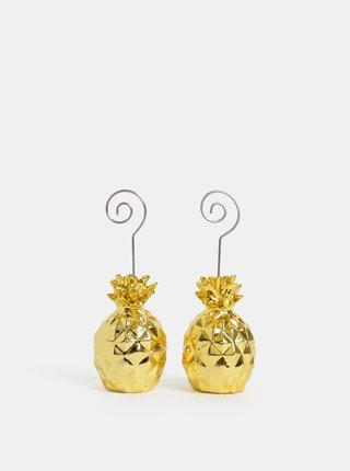 Stojan na fotku s motívom ananásov v zlatej farbe Kaemingk