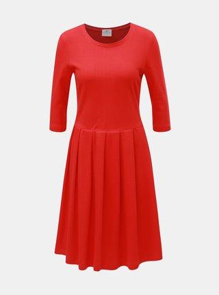 Červené šaty s 3/4 rukávom SEVERANKA