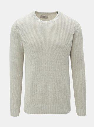 Svetlosivý sveter s okrúhlym výstrihom Jack & Jones Andreas