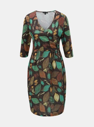 Čierno–zelené šaty s motívom listov Smashed Lemon