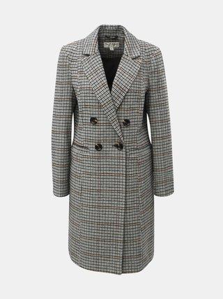 Šedý kostkovaný kabát Miss Selfridge