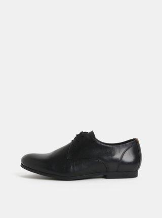 Čierne pánske kožené poltopánky Royal RepubliQ