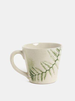 Zeleno–biely vzorovaný hrnček Kaemingk