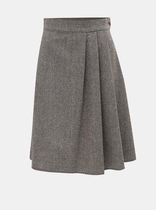 Šedo-hnědá žíhaná sukně SEVERANKA