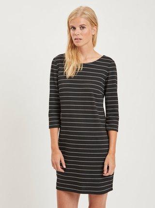 33ee2f278e37 Čierne pruhované šaty VILA Tinna