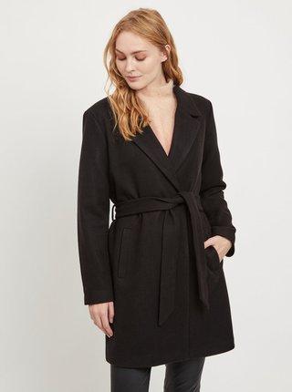Černý kabát s příměsí vlny VILA