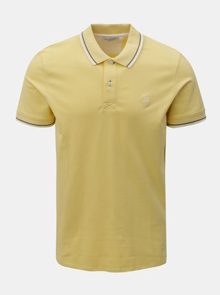 Tricou polo galben Selected Homme Season