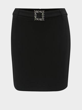 Čierna sukňa s ozdobnou prackou Dorothy Perkins