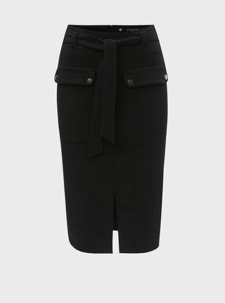 Černá pouzdrová sukně s kapsami Dorothy Perkins