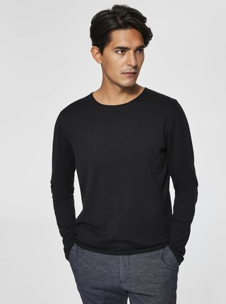 Pulover negru Selected Homme Dome