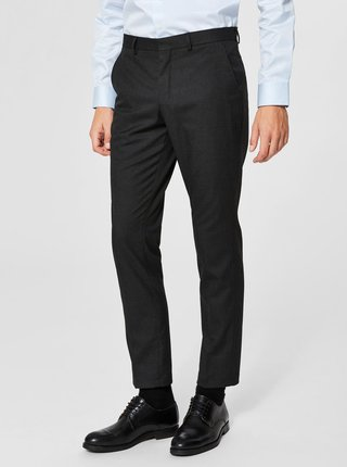 Pantaloni eleganti gri inchis melanj  - Selected Homme Slim